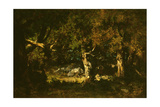 Woodland Thicket Giclee Print by Narcisse Virgile Diaz de la Pena