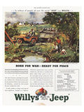 Willys Jeep - Born for War Affiches