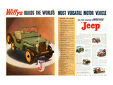 Willys- World's Most Versatile Affiches