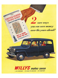 Willys 2 Ways You Can Save Lámina giclée premium