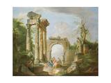 Arcadian Scene, 18th Century Reproduction procédé giclée par Giovanni Paolo Pannini