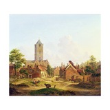 The Church of St. Jacobi, Utrecht Giclee Print by Jan Hendrik Verheyen