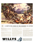 Willys-Jeeps Motorcars &Trucks Affiches