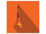 Orange Eiffel Tower Graphic Posters