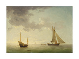 A Lugger and a Smack in Light Airs Giclee Print by Charles Brooking