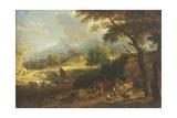 Shepherds in a Landscape Giclee Print by Joachim Franz Beich