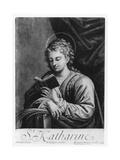 St. Catherine Giclee Print by  Correggio