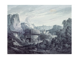 Landscape with a Lime Quarry Giclee Print by James Bourne