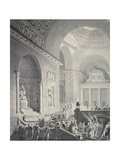 Scene in a Classical Temple: Funeral Procession of a Warrior Giclee Print by Joseph Charles Barrow