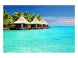 Over Water Bungalows Bora Bora Art
