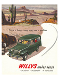 Willys - Goes a Long Long Way Print