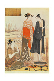 A Teahouse by the Water Giclee Print by Torii Kiyonaga