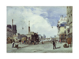Quai De La Greve, Paris, in 1837 Giclee Print by Thomas Shotter Boys
