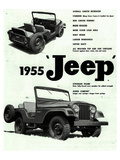 Willys 1955 Jeep Affiches