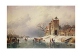 Frozen Winter Scene, 19th Century Giclee Print by Charles-Henri-Joseph Leickert