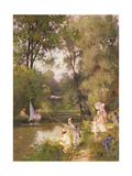 Sunday in the Park Giclee Print by Philippe Jacques Linder