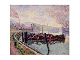 Coal Barges Giclee Print by Jean Baptiste Armand Guillaumin