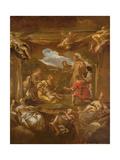 St. Anthony of Padua Healing a Young Man Lámina giclée por Luca Giordano