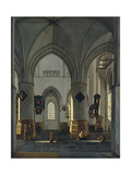 Interior View of St. Bavo Church, Harlem Giclee Print by Gerrit Adriaensz Berckheyde