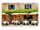 Quaint Cafe in Tuscany Italy Posters