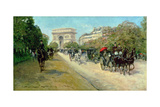 Boulevard in Paris Giclee Print by Georges Stein