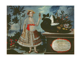 A Young Woman from Quito Dressed for Public Life Giclee Print by Vicente Alban