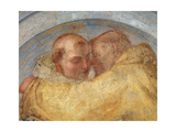 The Meeting of St Francis and St Dominic Giclée-tryk af Fra Bartolommeo