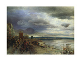 The Coast of Naples, 1877 Giclee Print by Andreas Achenbach