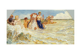 Sea Gods in the Surf, 1884-85 Giclee Print by Max Klinger