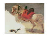 Horse of Mustapha-Pacha Giclee Print by Baron Antoine Jean Gros