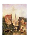 A Dutch Canal Scene, 1866 Giclee Print by Charles-Henri-Joseph Leickert