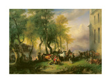 Cattlemarket on Maria Plain, 1837 Giclee Print by Friedrich Gauermann