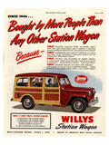 Willys Station Wagon Since1946 Posters