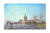 The Skaters at Overschie, 1867 Giclee Print by Johan-Barthold Jongkind