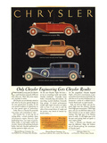 Only Chrysler Engineering… Posters