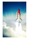 Space Shuttle Taking Off Posters