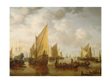 Naval Review, 1649 Giclee Print by Simon Jacobsz Vlieger