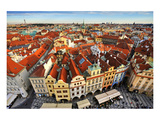 Red Roofed Houses in Prague Prints