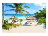 Tulum Beach Yucatan in Mexico Giclee-tryk i høj kvalitet