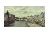 The Pont Neuf, Paris Giclee Print by Thomas Shotter Boys