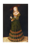 Young Girl Holding Flowers, 1526 Giclee Print by Lucas Cranach the Elder