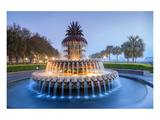 Pineapple Fountain Charleston Print