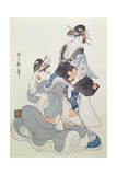 Two Female Figures Giclee Print by Kitagawa Utamaro