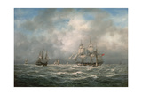 Frigate Hove-To, Awaiting a Pilot Giclee Print by Richard Willis