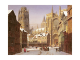 Dutch Cathedral Town Giclee Print by Heinrich Hansen