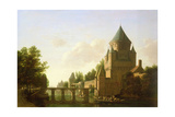 Evening View of the Kleine Houtpoort in Haarlem Giclee Print by Gerrit Adriaensz Berckheyde