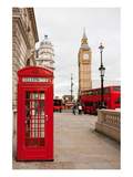 Phone Box London Bus & Big Ben Prints