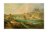 View of Toledo, 1854 Giclee Print by Eugenio Lucas y Padilla