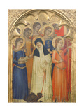 Predella Panel of St. Lucy with Saints, 1350-60 Giclee Print by Giovanni Da Milano