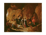 The Temptation of St. Anthony Giclee Print by David the Younger Teniers